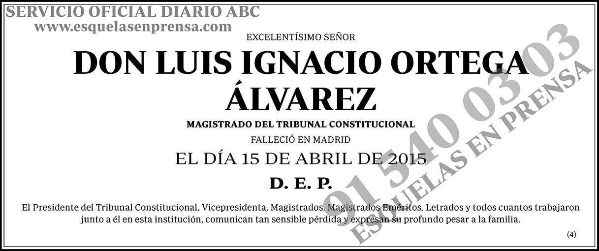 Luis Ignacio Ortega Álvarez